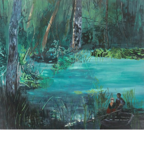 "Helmtrud Nyström. ""The brothers"", 2012, acrylic on canvas 90×100 cm"