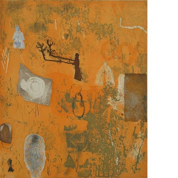 "Helmtrud Nyström. ""The bushman"", 2001, färgetsning 59×49 cm"
