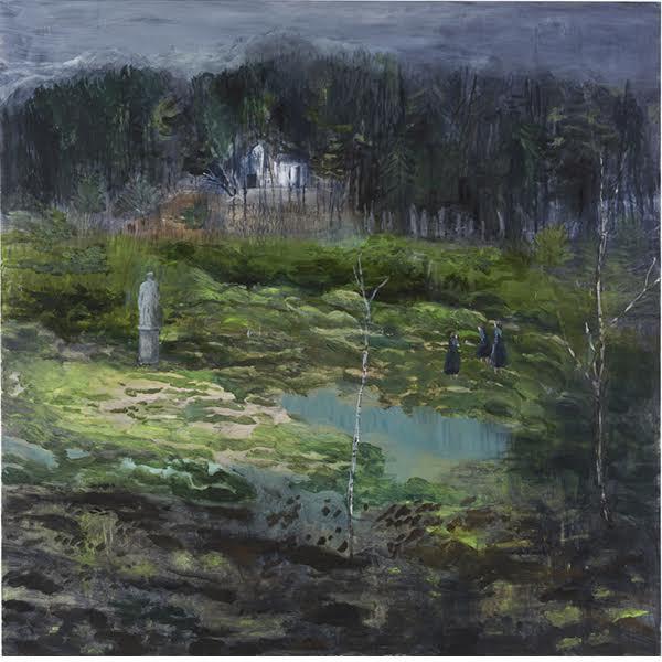 """Helmtrud Nyström. """"Jätten"""", 2014, akryl på duk 130×130 cm"""