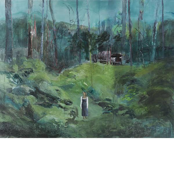 """Helmtrud Nyström. """"Väggen"""", 2014, akryl på duk 145×115 cm"""