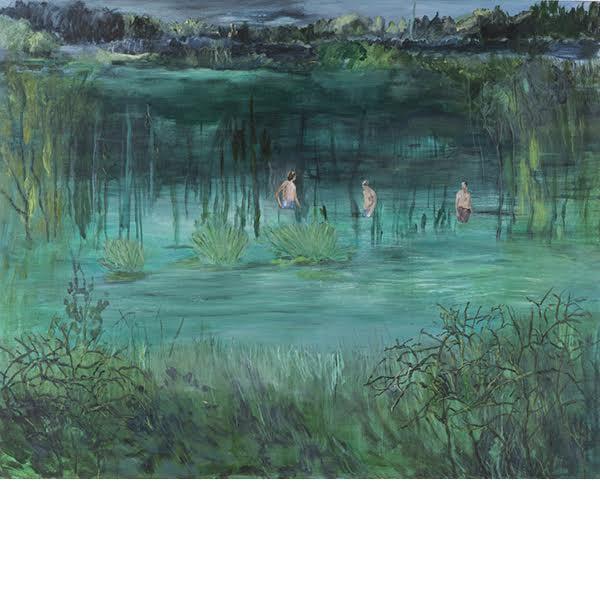 """Helmtrud Nyström. """"Vattenprov"""", 2014, akryl på duk 145×115 cm"""
